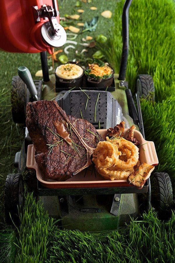 Barton G Restaurant- Lawn Moo-er With Sauce
