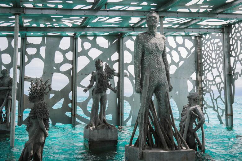 Coralrarium art museum interior at the Fairmont Maldives