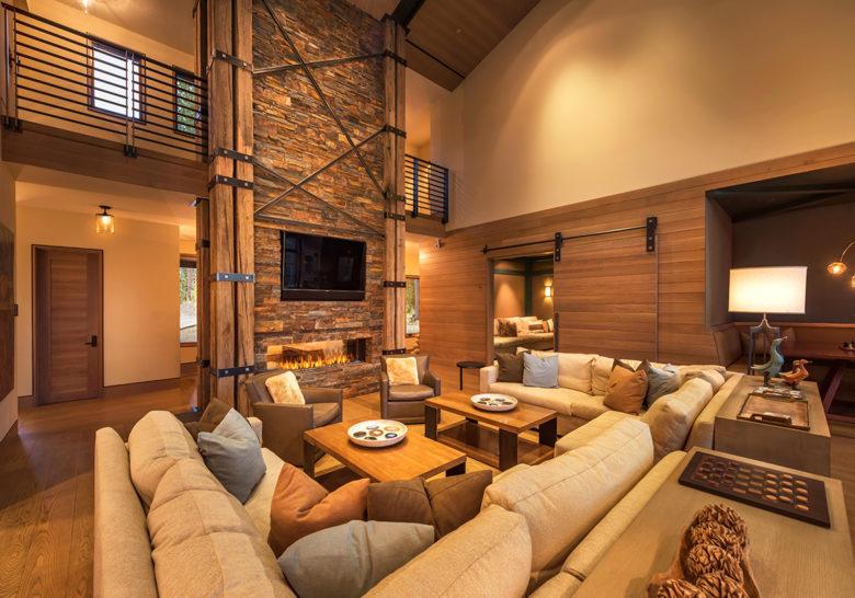 Martis Camp modern living room Lake Tahoe