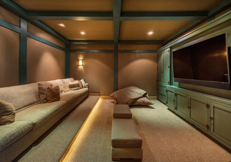 Martis Camp cabin Media Room design