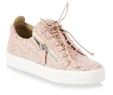 Sneakers sparkle peach