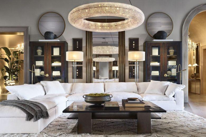 Living room Restoration hardware palm beach