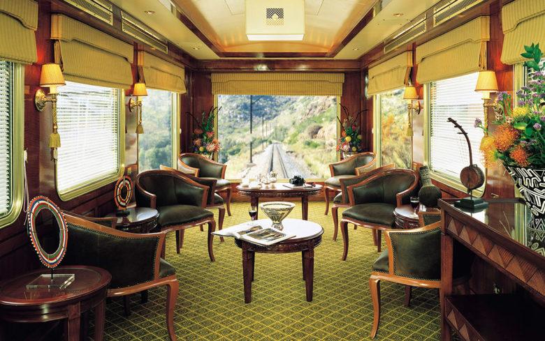 The blue train luxury train travel
