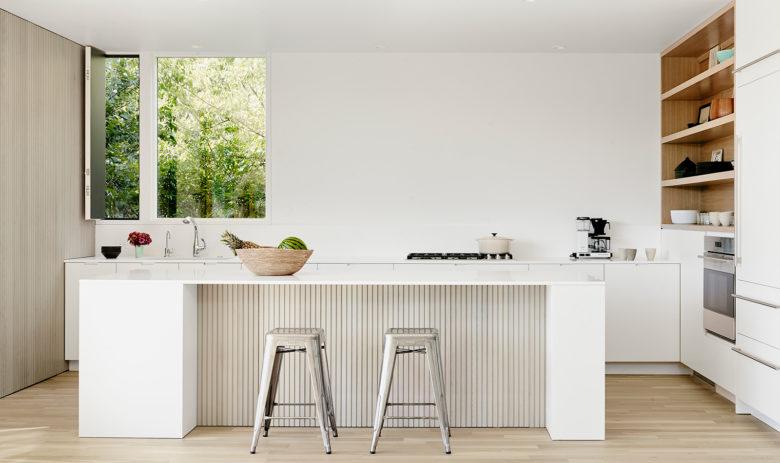 Modern kitchen design Austin home