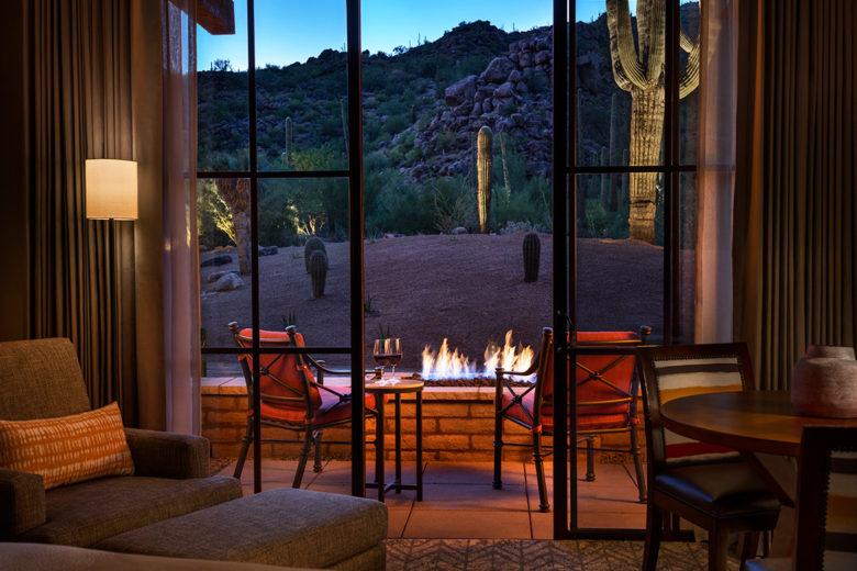 Ritz-Carlton Dove Mtn fireplace