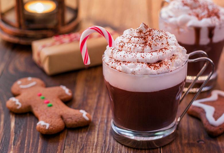 Boozy Bourbon pepperming hot chocolate recipe