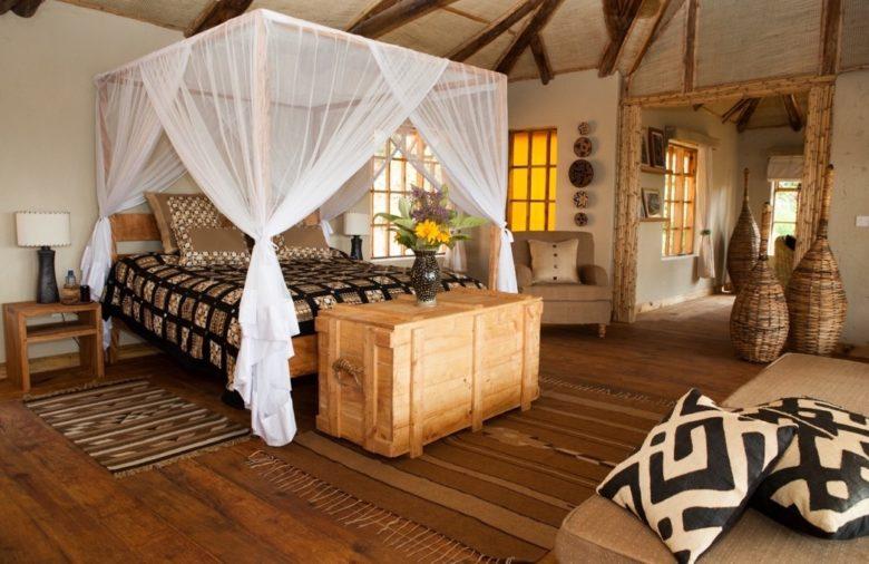 Virunga Lodge - bwindi bed room