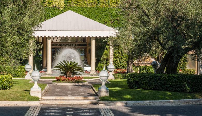 Rome Cavalieri Hotel Entrance