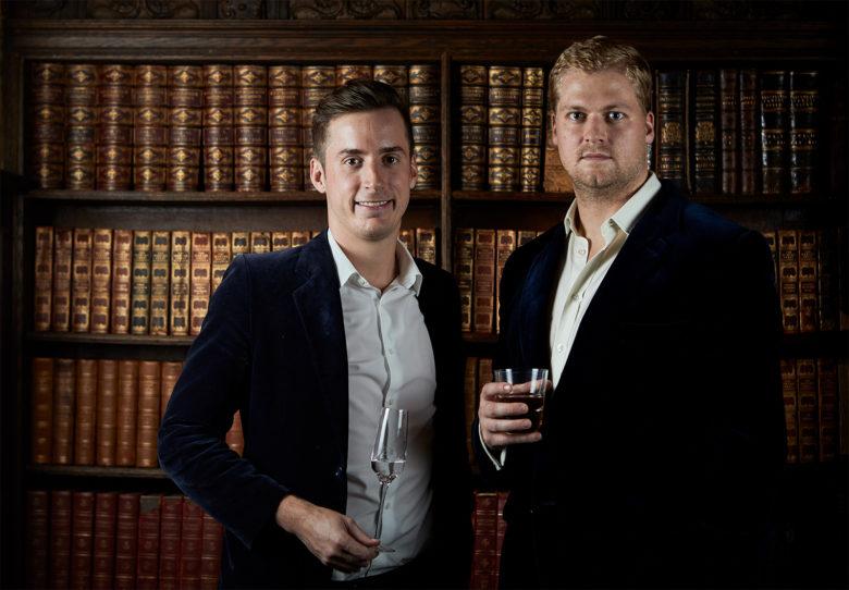 Founders Sebastian Gonzalez and Max Davies-Gilbert Tequila Enemigo bottle