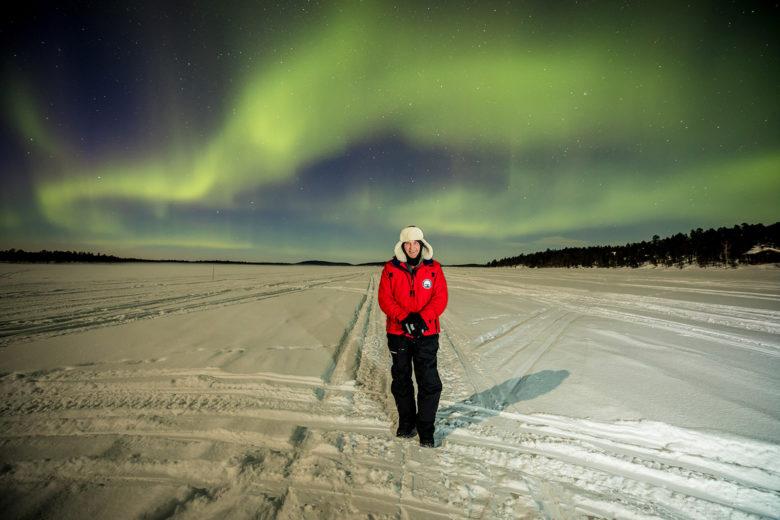 Geoffrey Kent in Finland aurora borealis