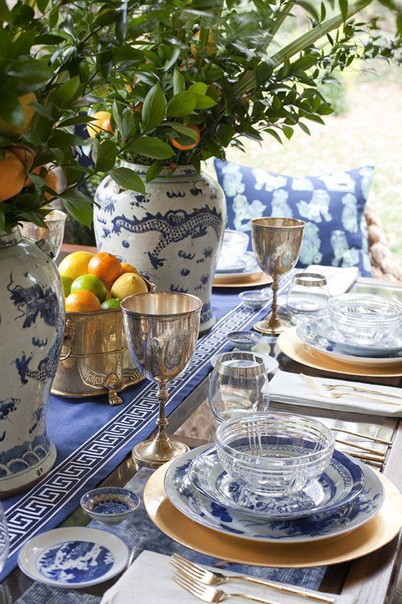 Golden Goblets Spring Tablescape