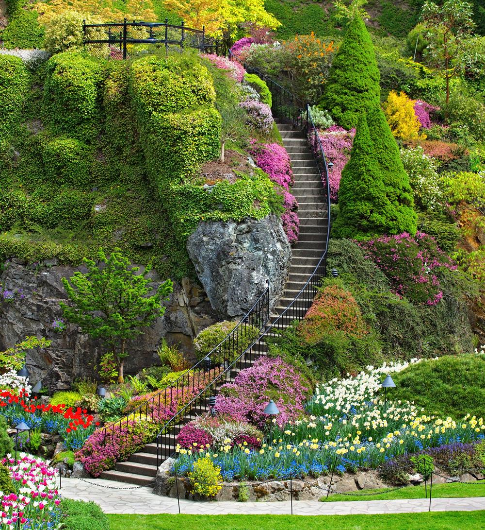 The Butchart Gardens Most Beautiful Garden