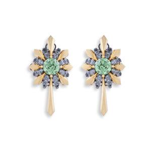 Mint Green Garnet Earrings Adam Foster