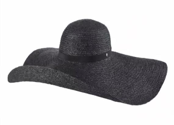 Black wavy designer hat.