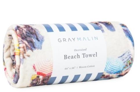 Designer beach towel.