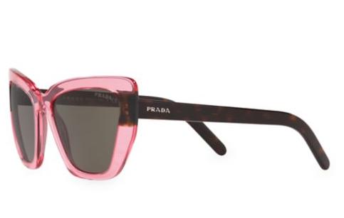 Pink and brown prada sunglasses.