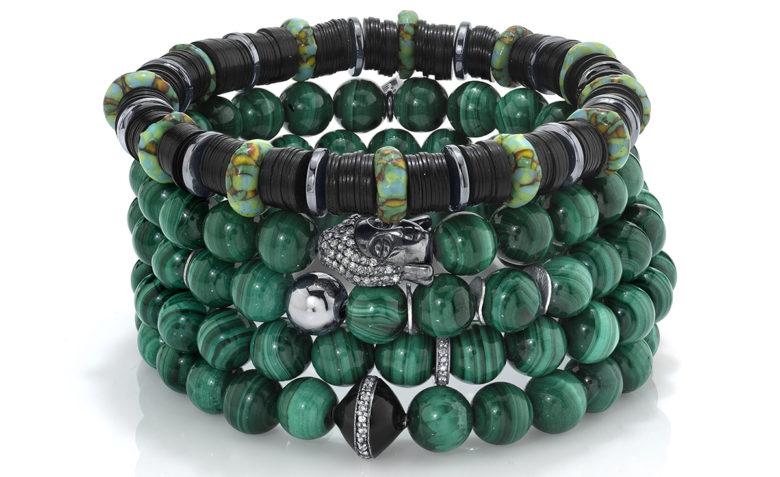 Mr. Lowe Green Stack Bracelets Sheryl Lowe Jewelry