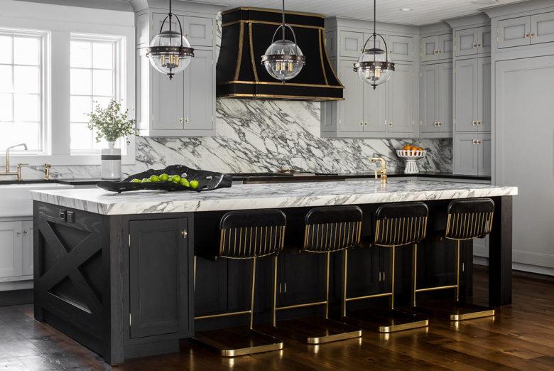 Black and White modern Kitchen design