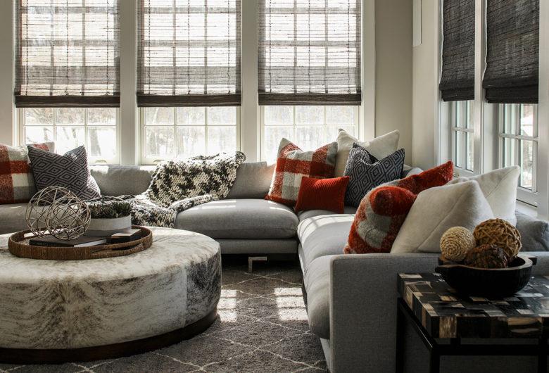 Family room design Karen B. Interiors