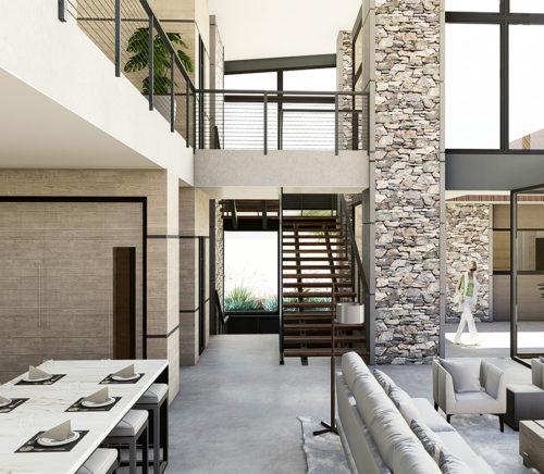 modern custom home by Cullum Homes AZ