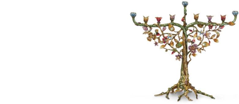 Jay-Strongwater Floral Menorah design