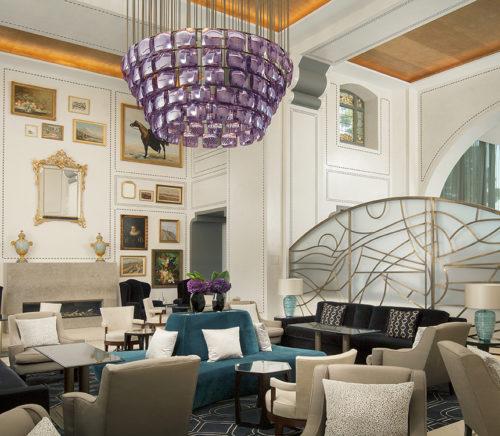 Royal Savoy hotel Lausanne Switzerland lobby