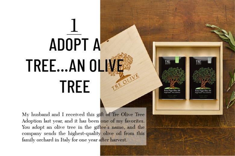 Tre Olive Tree adoption best hostess gift