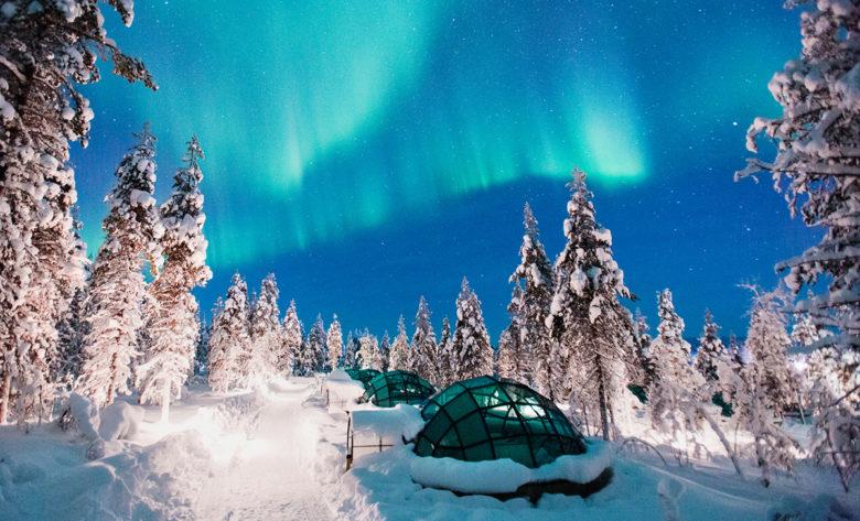 kakslauttanen arctic best hotel for star gazing Finland