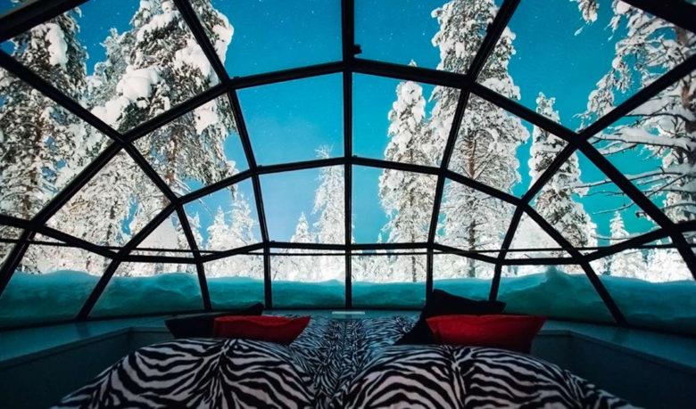 kakslauttanen artic resort star gazing finland