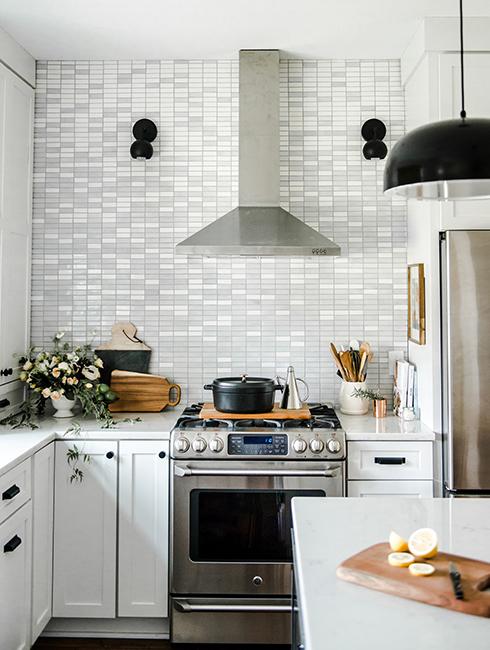 Ombre tiles kitchen Mercury Mosaics