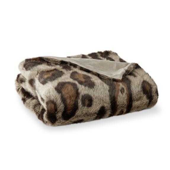 Williams Sonoma luxury fur throw