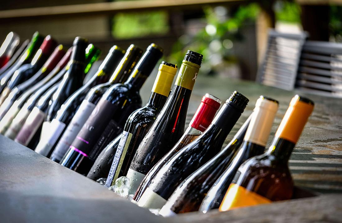 bottles of Dry Farm organic wine