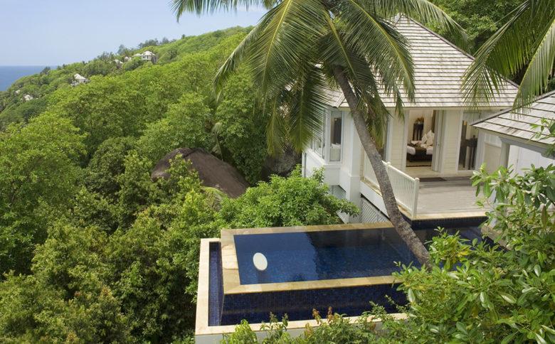 Banyan Tree Seychelles infinity pool design
