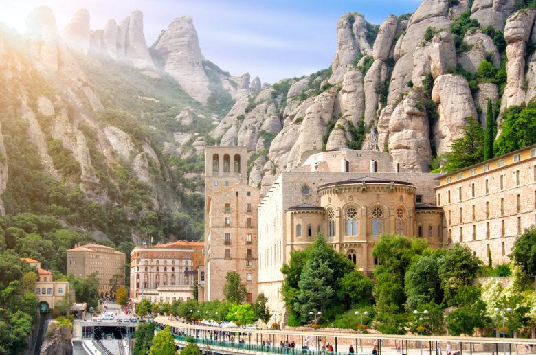 Montserrat Monastery in Barcelona Spain