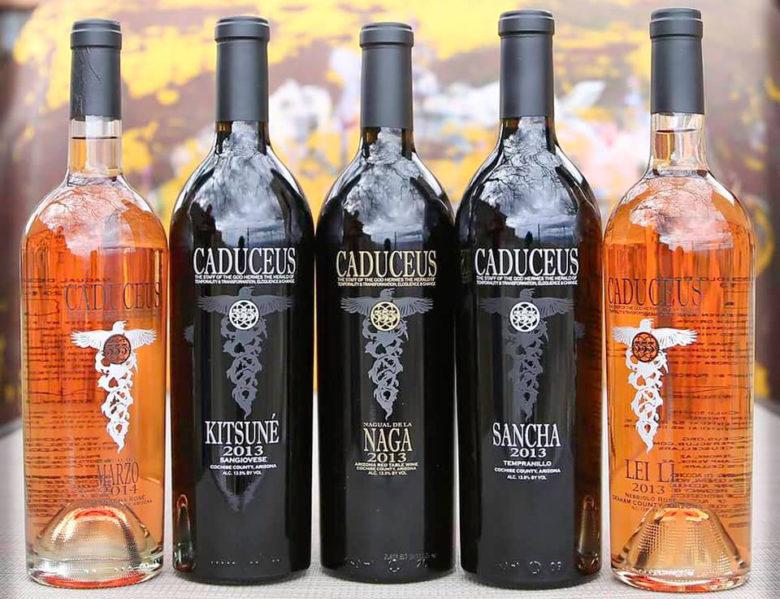 Cadeceus Cellars natural wine in Jerome Az.