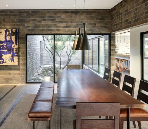 modern dining room by David Michael Miller
