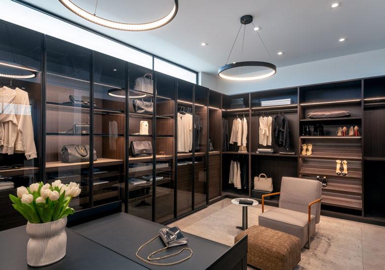 Master closet in ICONIC HAUS