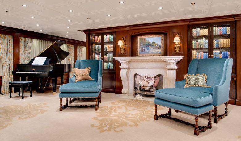 formal living room yacht design