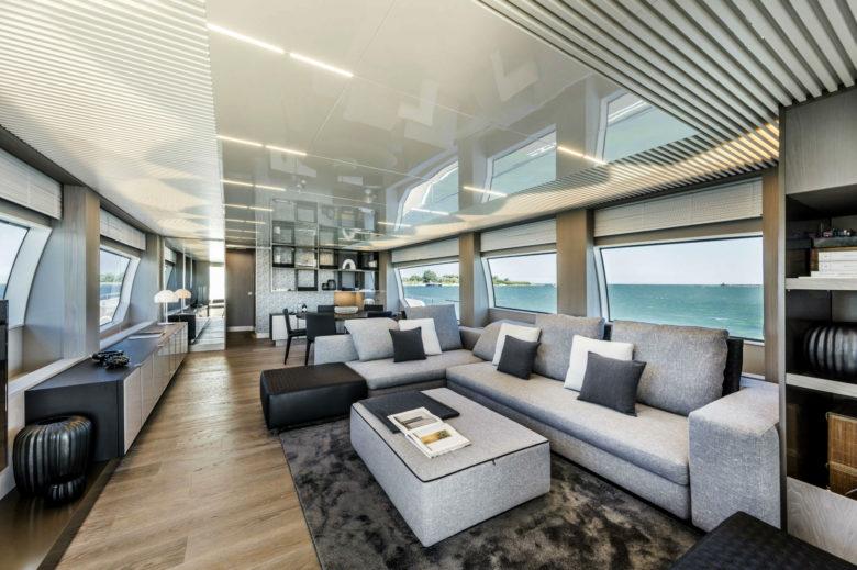 high end luxury yacht interior design