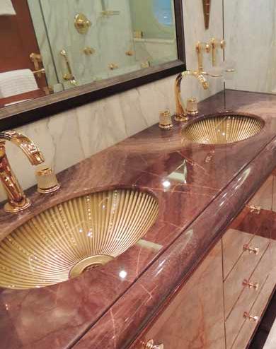 modern bath interior yacht design
