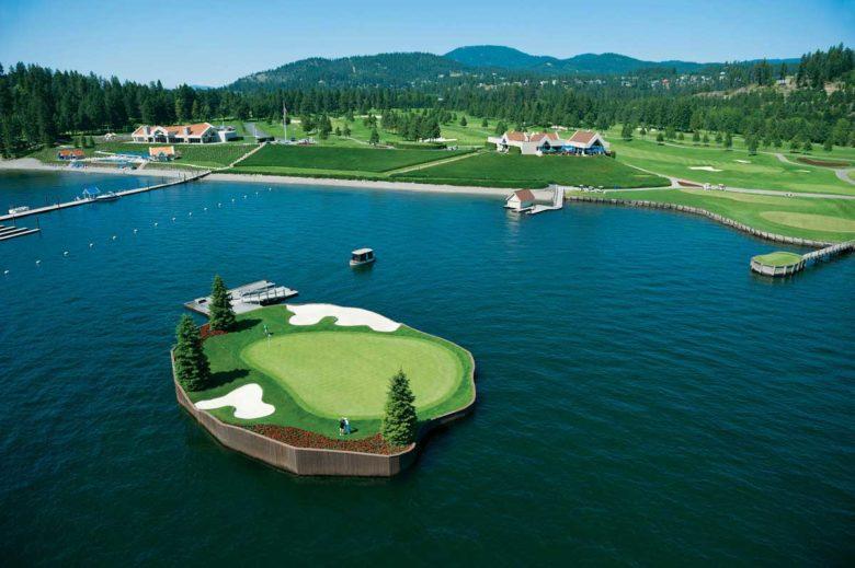 Hole 14 Coeur dAlene Resort Course best golf hole