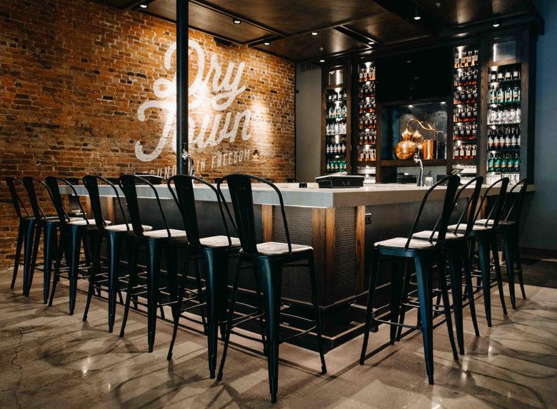 Tasting room at Old Elk Distillery