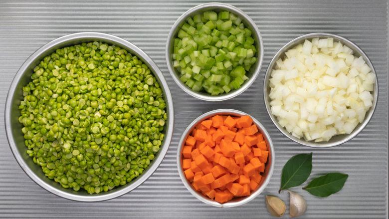ingredients for split pea soup tasty appetizer recipe
