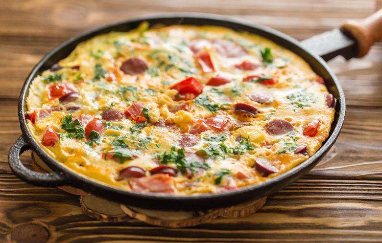 pepper and sausage fritatta best breakfast recipe