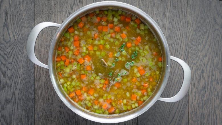 recipe instruction for split pea soup