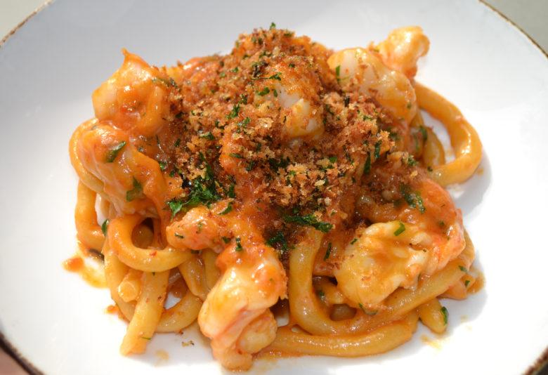 Chef Scott Conant Pici with Shrimp Ragu recipe