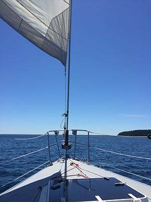 Sailing on Mackinac Island Michigan