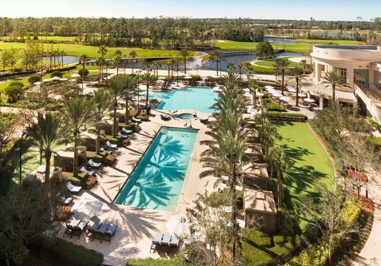 best resort pool at Waldorf Astoria Orlando
