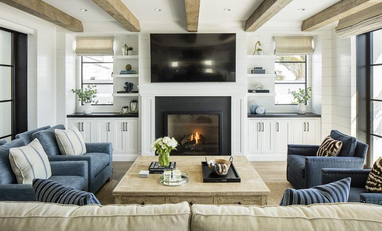 modern living room in Boardwalk Beach House