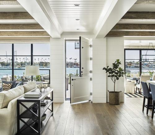 open concept boardwalk beach house Newport